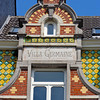 "Detail of ""Villa Germaine,"" an Art Nouveau townhouse in the EU District, Brussels, Belgium"