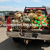 Truck full of buoys and rope, in the lobstering community of Friendship, Maine