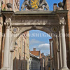 An arch leading to a street in Bruges, Belgium