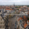Europe, Belgium, Ghent.  From the top of the belfry, a view of Ghent, Belgium