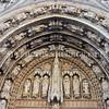 Detail of l'Eglise Notre Dame du Sablon (Church of Our Lady of Sablon). Brussels, Belgium