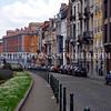 A curving street in the EU Quarter, Brussels, Belgium