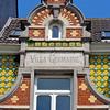 "Detail of ""Villa Germaine,"" an Art Nouveau townhouse in the EU District, Brussels, Belgium"